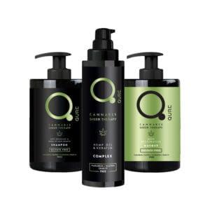 Qure Cannabis Complete Sheer Therapy Bundle ολοκληρωμένη θεραπεία με έλαιο κάνναβης