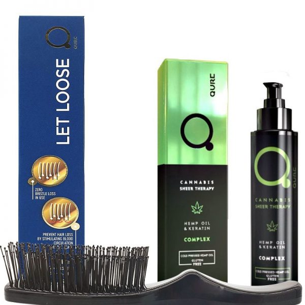Qure No Frizz and Healthy Hair Bundle