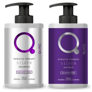 qure keratin silver therapy bundle silver shampoo 300ml and silver mask 300ml 72 550x550 1